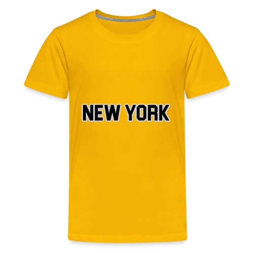 New York Yankee - Black - Kids' Premium T-Shirt