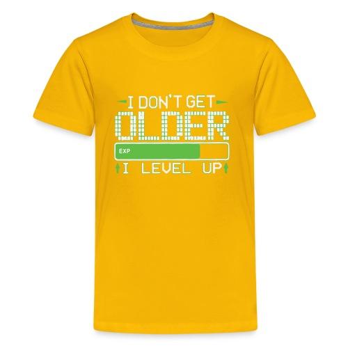 I Don t Get Older I Level Up Humour Logo - Kids' Premium T-Shirt