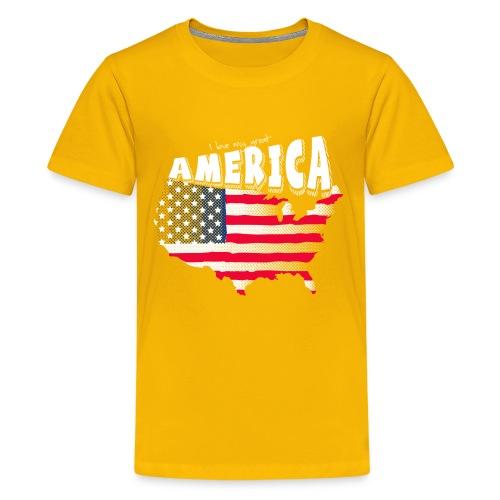 i love my graet america - Kids' Premium T-Shirt