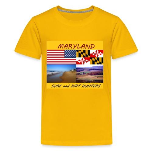 MARYLAND SURF AND DIRT HUNTERS group LOGO LARGE - Kids' Premium T-Shirt