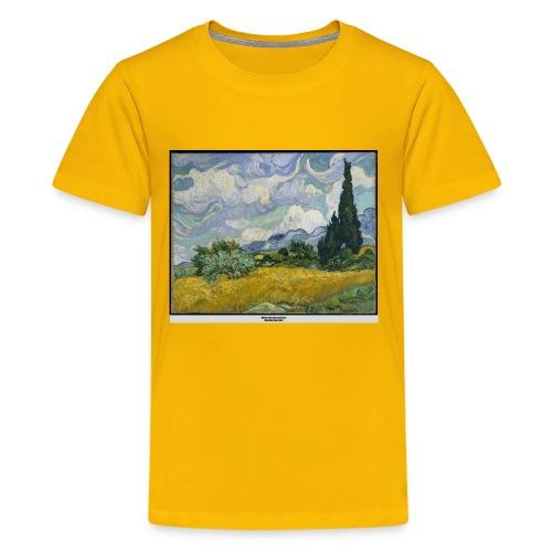 Wheat Field with Cypresses, VAN GOGH - Kids' Premium T-Shirt
