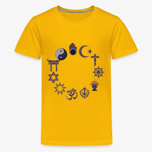 Love and peace religious signs - Kids' Premium T-Shirt
