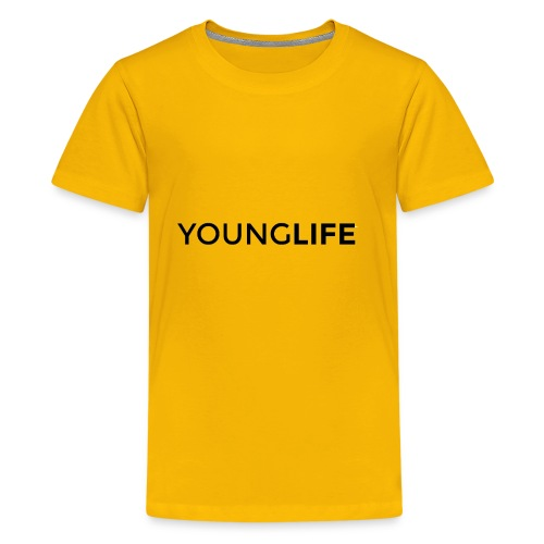 Young Life logo (text)(black) - Kids' Premium T-Shirt