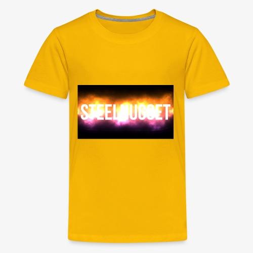 SteelNugget Glowing Text Effect - Kids' Premium T-Shirt