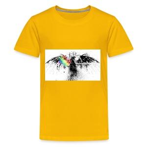 dispersing prism on grunge eagle wide wallpaper 32 - Kids' Premium T-Shirt