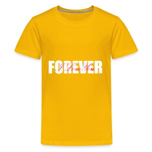 I LOVE YOU FOREVER Pink and White - Kids' Premium T-Shirt