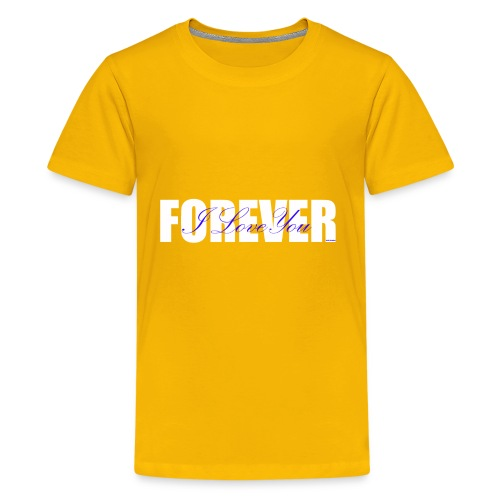 I LOVE YOU FOREVER Blue and White - Kids' Premium T-Shirt