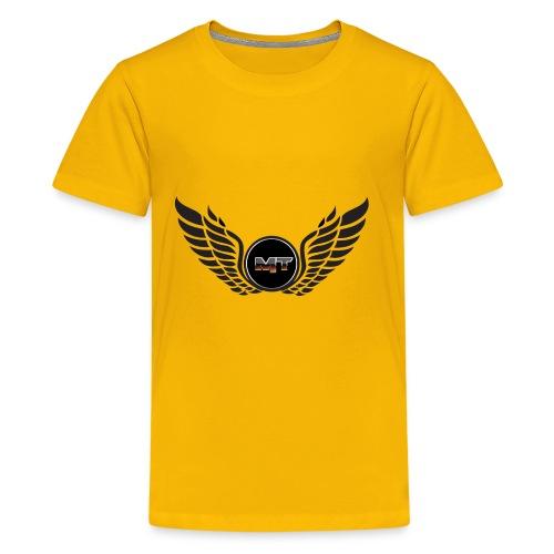 mystery tech wings logo - Kids' Premium T-Shirt