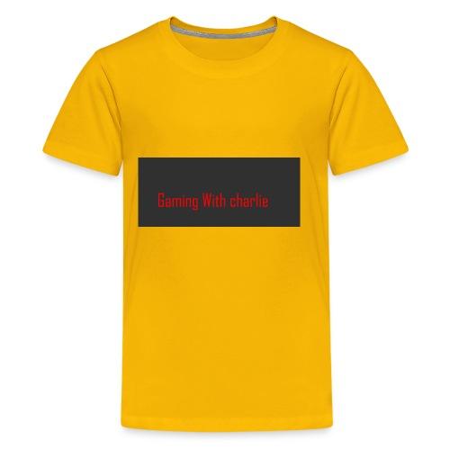 Gaming with charlie merch design - Kids' Premium T-Shirt