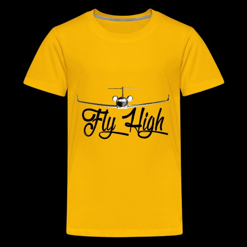 NEW FLY HIGH LOGO BLACK - Kids' Premium T-Shirt