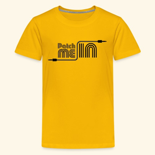 Patch Me In - Black Logo - Kids' Premium T-Shirt