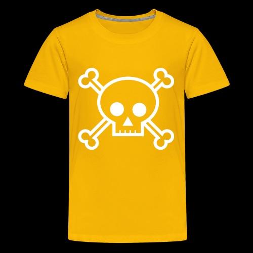 deaths head skull halloween - Kids' Premium T-Shirt