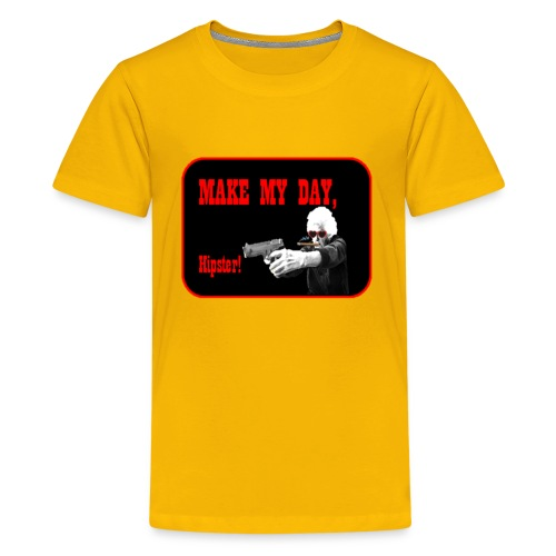 Make my day, Hipster Black/Red - Kids' Premium T-Shirt