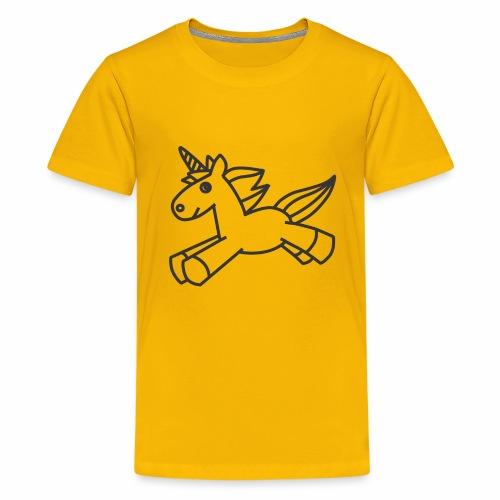 Cute Unicorn line art - Kids' Premium T-Shirt
