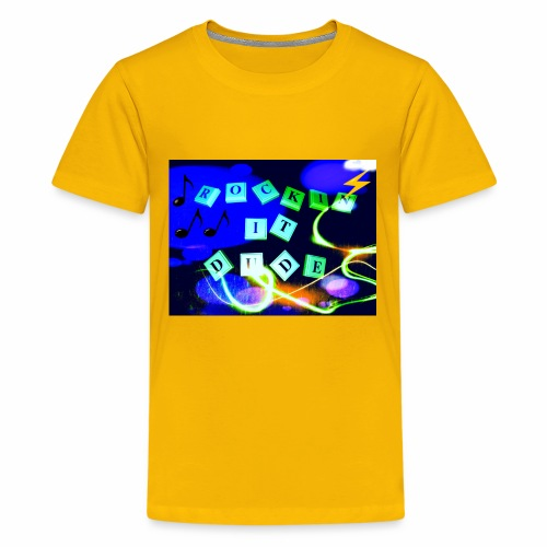 Rockin it Dude - Kids' Premium T-Shirt