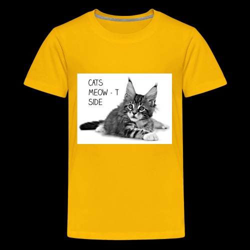 Cats Meow-t Side - Kids' Premium T-Shirt