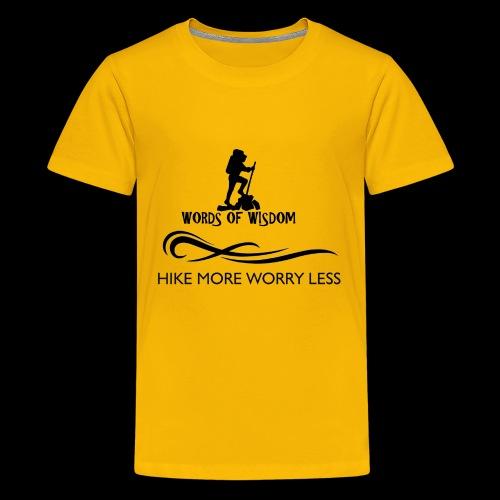 Hike More Worry Less - Kids' Premium T-Shirt