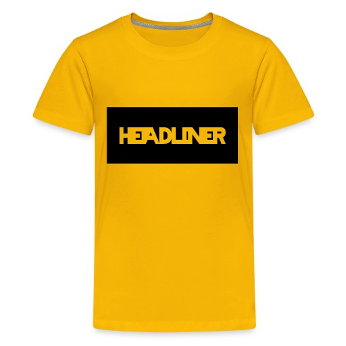 Black And White Headliner Logo - Kids' Premium T-Shirt