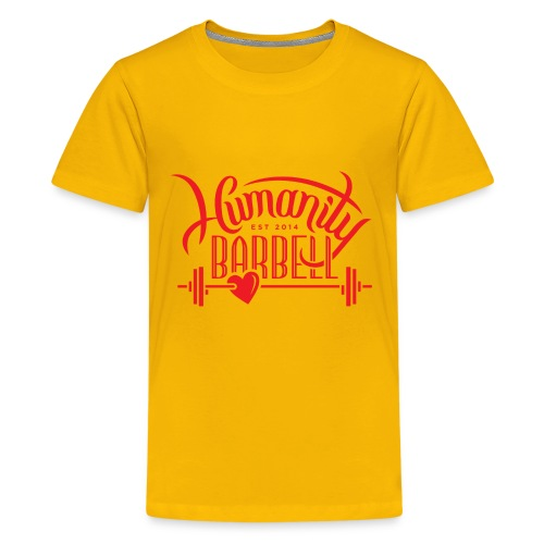 Humanity Barbell Red with Heart - Kids' Premium T-Shirt