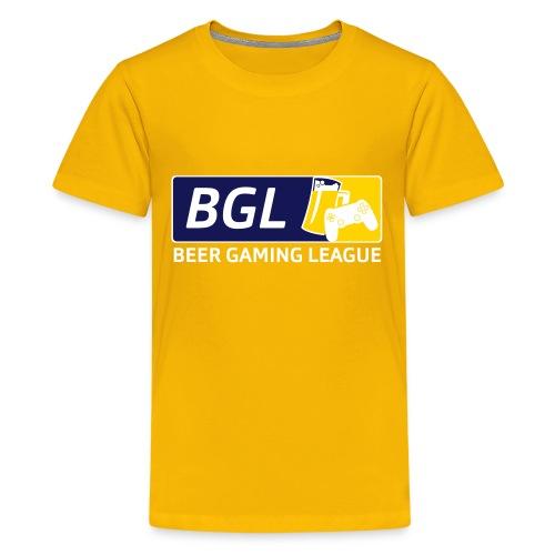 Mens Official Beer Gaming League Shirt - Kids' Premium T-Shirt