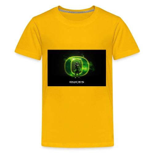 ducks_football_wallpaper - Kids' Premium T-Shirt
