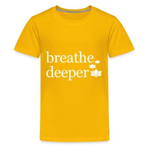 Breathe Deeper Lotus - Kids' Premium T-Shirt