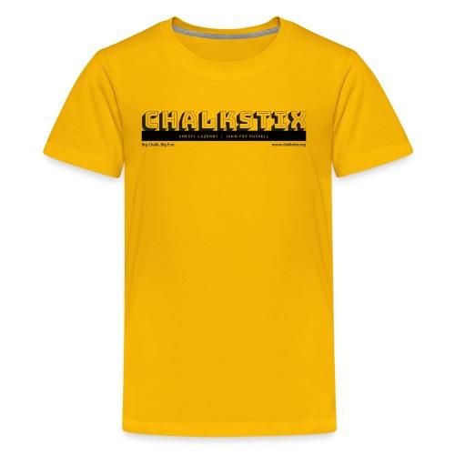 chalkstix logo BLACK - Kids' Premium T-Shirt