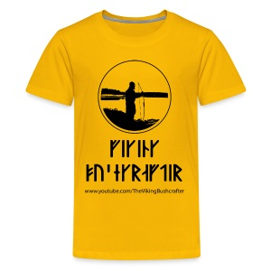 The Viking Bushcrafter Logo With Runes - Kids' Premium T-Shirt