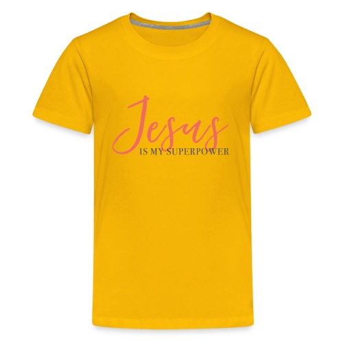 Jesus Is My Superpower - Coral - Kids' Premium T-Shirt