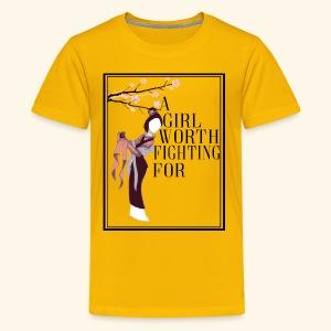 Girl worth fighting for - Kids' Premium T-Shirt