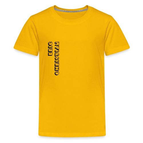 Eric Christian Side Logo Black - Kids' Premium T-Shirt