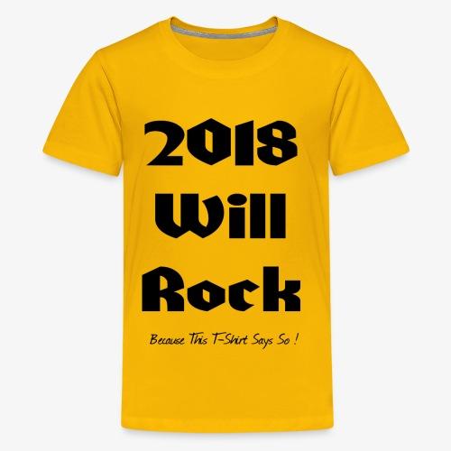 2018 Will Rock - Kids' Premium T-Shirt