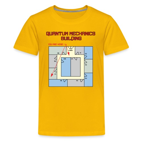 Colored Quantum Mechanics Building - Kids' Premium T-Shirt