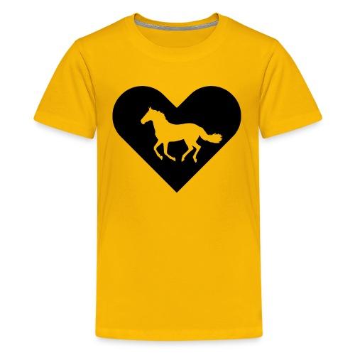 Heart-Horse (black) - Kids' Premium T-Shirt