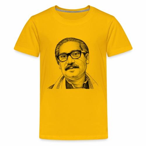 Bangabandhu sketch - Kids' Premium T-Shirt