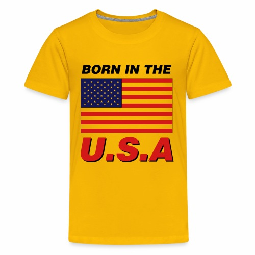 BORN IN THE USA - Kids' Premium T-Shirt