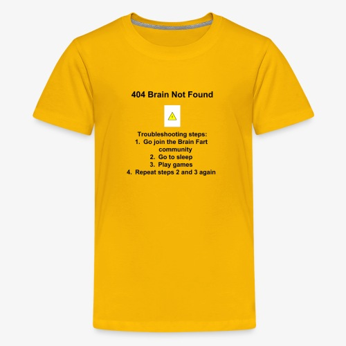 404 Brain Not Found - Kids' Premium T-Shirt