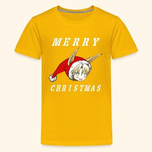Christmas Fraulein Dog Shirt Stencil Version - Kids' Premium T-Shirt