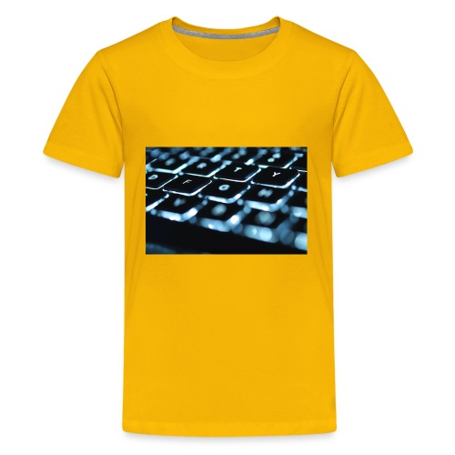 Glowing Keyboard - Kids' Premium T-Shirt