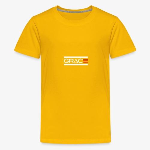 White Double line Grace - Kids' Premium T-Shirt
