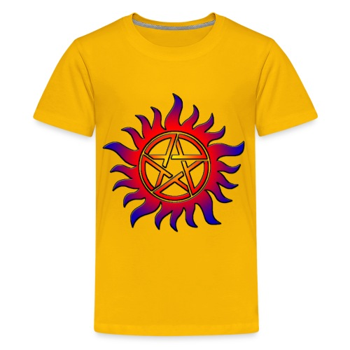 Anti Possession Symbol Sun Fire - Kids' Premium T-Shirt