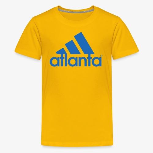 adlanta blue edges - Kids' Premium T-Shirt