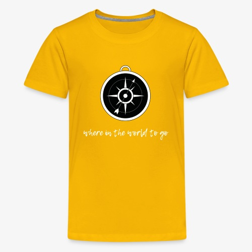 Compass Rae White - Kids' Premium T-Shirt