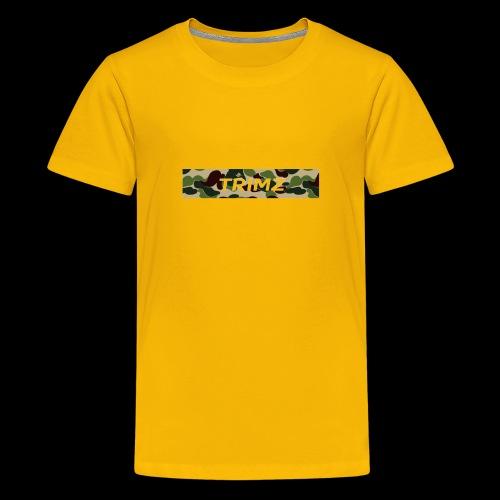 Trimz Army Camo Box Logo - Kids' Premium T-Shirt