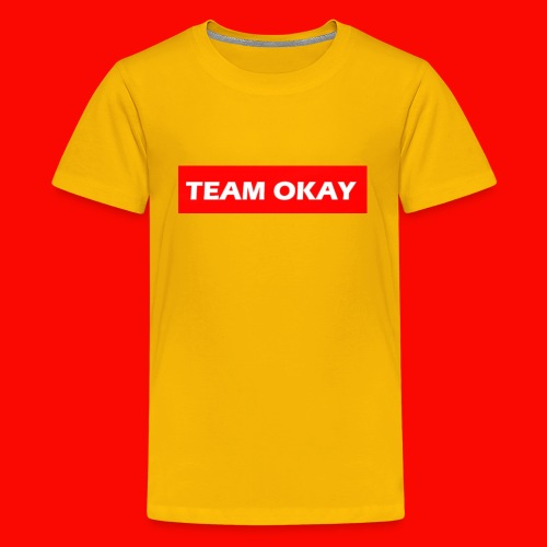 TEAM OKAY UNORIGINAL BOX LOGO - Kids' Premium T-Shirt