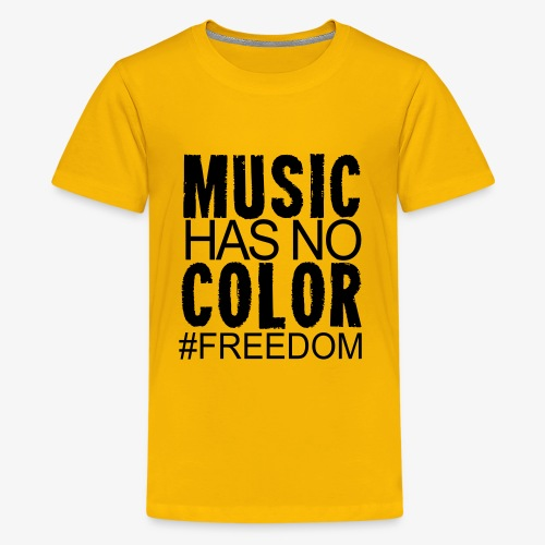 MUSIC HAS NO COLOR - Kids' Premium T-Shirt