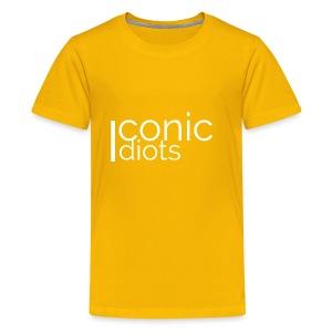 Idiots Logo (White) - Kids' Premium T-Shirt