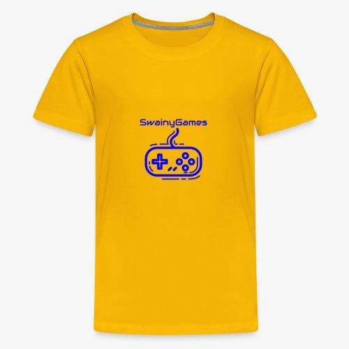 SwainyGames-Blue - Kids' Premium T-Shirt