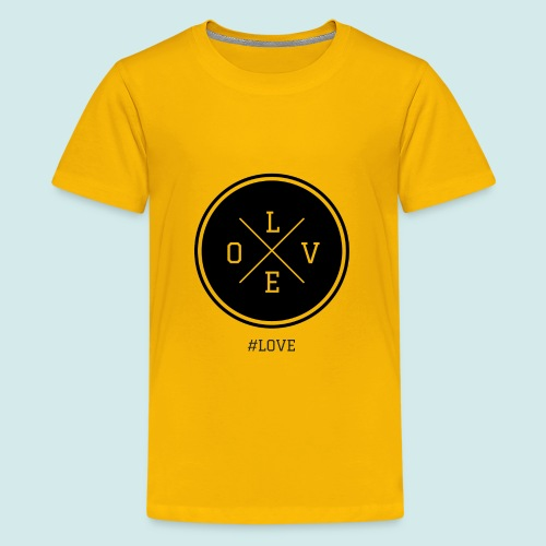 #love black and white - Kids' Premium T-Shirt