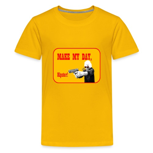 Make my day, Hipster Yellow/Red - Kids' Premium T-Shirt